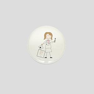 female audiologist Mini Button