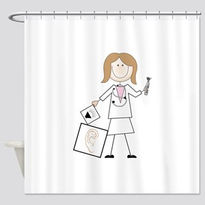 female audiologist Shower Curtain