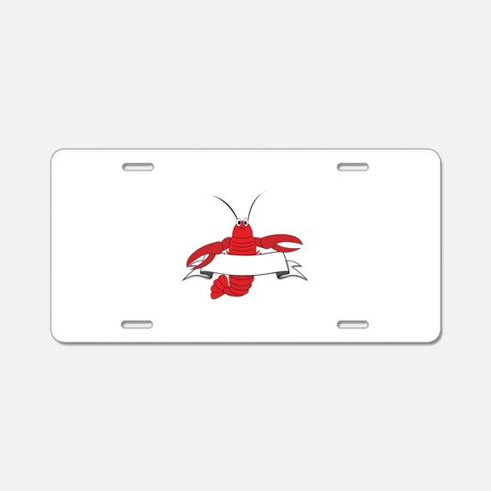 Lobster Aluminum License Plate