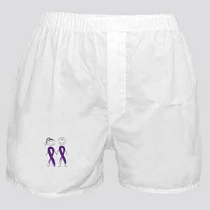 Alzheimers Ribbon Body Boxer Shorts