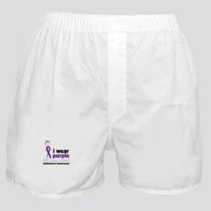I Wear Purple For My Mom!Alzheimers Awarness Boxer