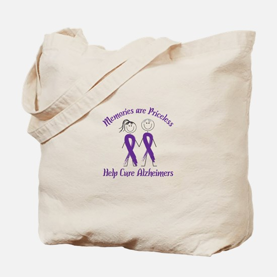 Memories are Priceless Help Cure Alzheimers Tote B
