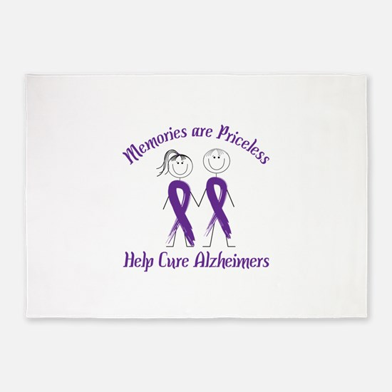 Memories are Priceless Help Cure Alzheimers 5'x7'A