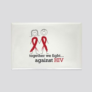 Together We Fight Against HIV Magnets