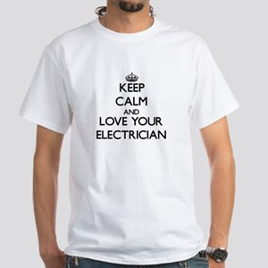 Keep Calm and Love your Electrician T-Shirt