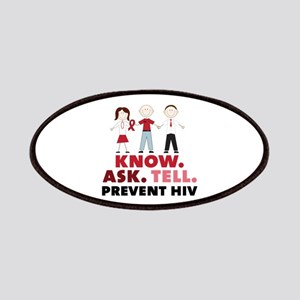 Know.Ask.Tell.Prevent HIV Patches