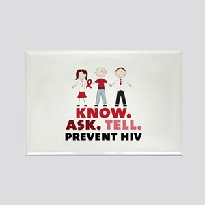Know.Ask.Tell.Prevent HIV Magnets