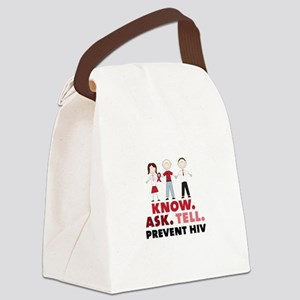 Know.Ask.Tell.Prevent HIV Canvas Lunch Bag