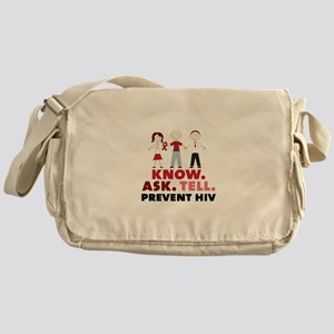 Know.Ask.Tell.Prevent HIV Messenger Bag