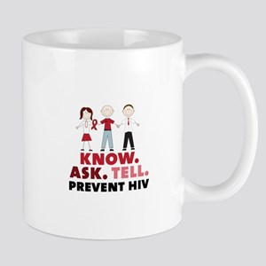 Know.Ask.Tell.Prevent HIV Mugs