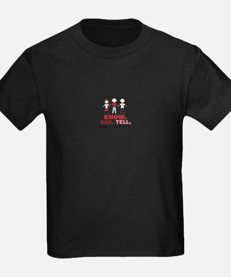 Know.Ask.Tell.Prevent HIV T-Shirt