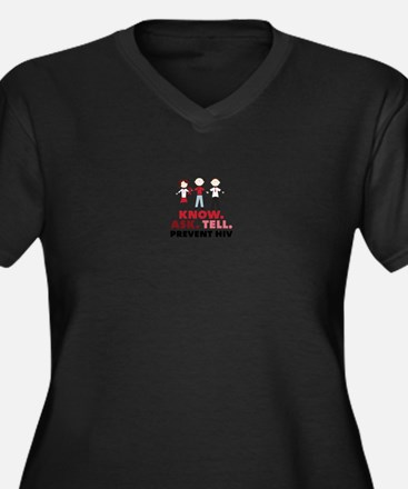 Know.Ask.Tell.Prevent HIV Plus Size T-Shirt