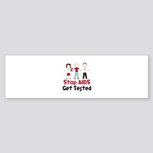 Stop Aids Get Tested Bumper Sticker