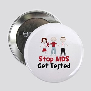"""Stop Aids Get Tested 2.25"""" Button"""
