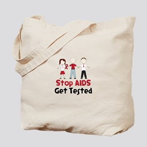 Stop Aids Get Tested Tote Bag