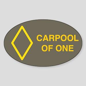 Carpool of One Oval Sticker