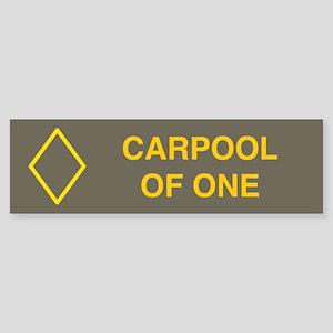 Carpool of one bumper sticker