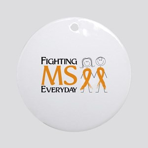 Fighting MS Everyday Ornament (Round)