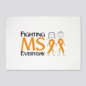 Fighting MS Everyday 5'x7'Area Rug