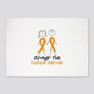 Stronger Than Multiple Sclerosis 5'x7'Area Rug