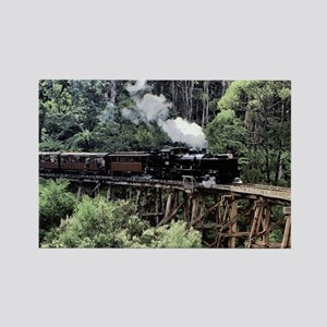 Old Narrow Gauge Steam Train on T Rectangle Magnet