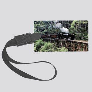 Old Narrow Gauge Steam Train on  Large Luggage Tag