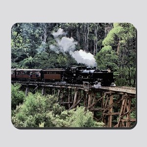 Old Narrow Gauge Steam Train on Trestle  Mousepad