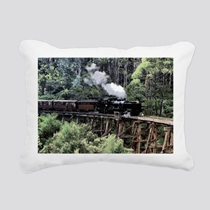 Old Narrow Gauge Steam T Rectangular Canvas Pillow