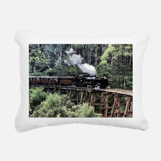Old Narrow Gauge Steam T Rectangular Canvas Pillow