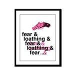 Fear and Loathing Framed Panel Print