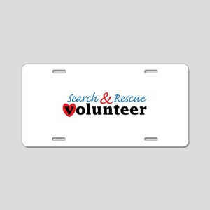 Search Rescue volunteer Aluminum License Plate