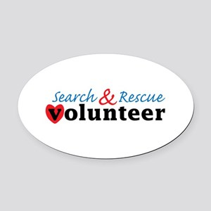 Search Rescue volunteer Oval Car Magnet