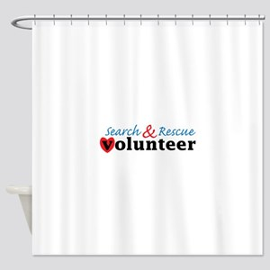 Search Rescue volunteer Shower Curtain