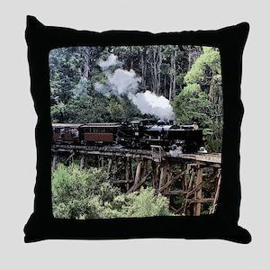 Heritage Narrow Gauge Steam Railway T Throw Pillow