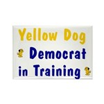 Yellow Dog Democrat Rectangle Magnet (10 pack)