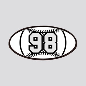 98 Baseball with Player Humber Patches