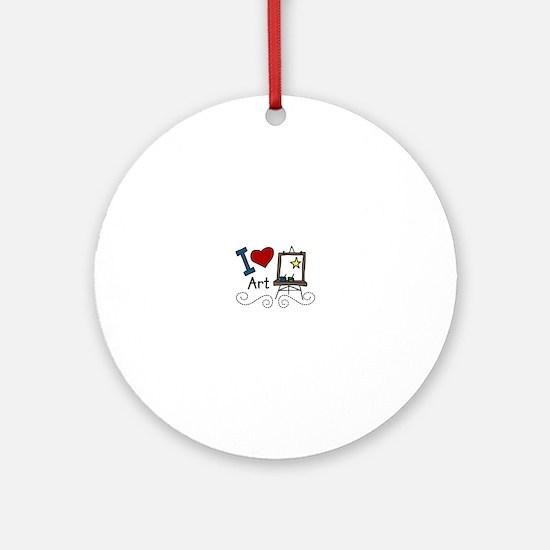 I Love Art Ornament (Round)