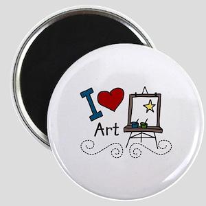 I Love Art Magnets