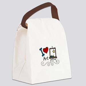 I Love Art Canvas Lunch Bag