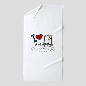 I Love Art Beach Towel