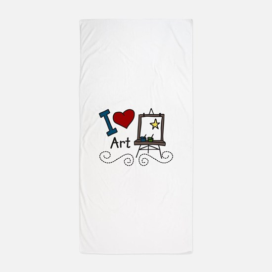 I Love Art Beach Towel