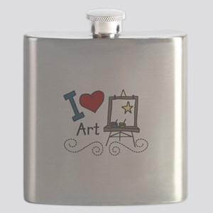 I Love Art Flask
