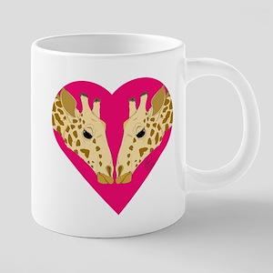 Valentine Giraffe Mugs