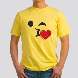 Winky Kiss Emoji Face T-Shirt
