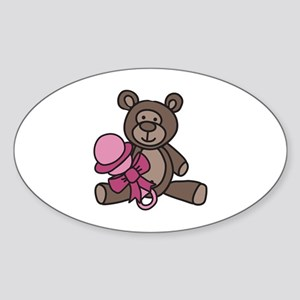 Bear With Rattle Sticker