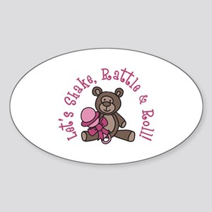 Lets Shake Rattle And Roll! Sticker