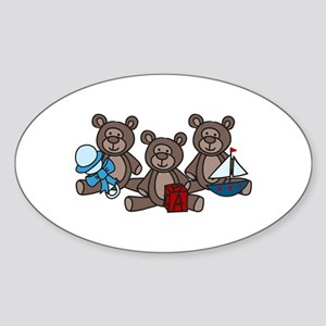 Bears With Toys Sticker