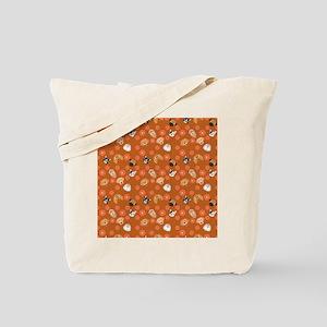 Cartoon Dogs on Tan Tote Bag