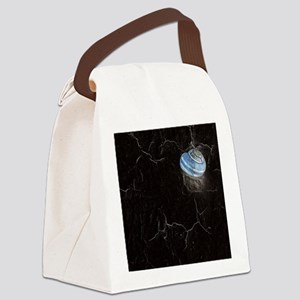 neon snail Canvas Lunch Bag