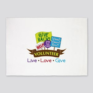 Live.Love.Give 5'x7'Area Rug